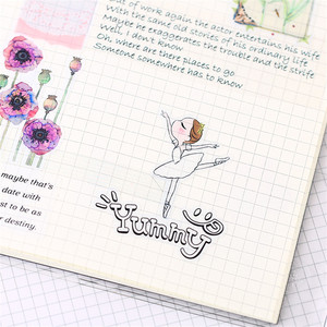 Image 4 - 40 PCS Cartoon ballet student Paper  Sealing Stickers Crafts And Scrapbooking book Decorative sticker DIY Stationery