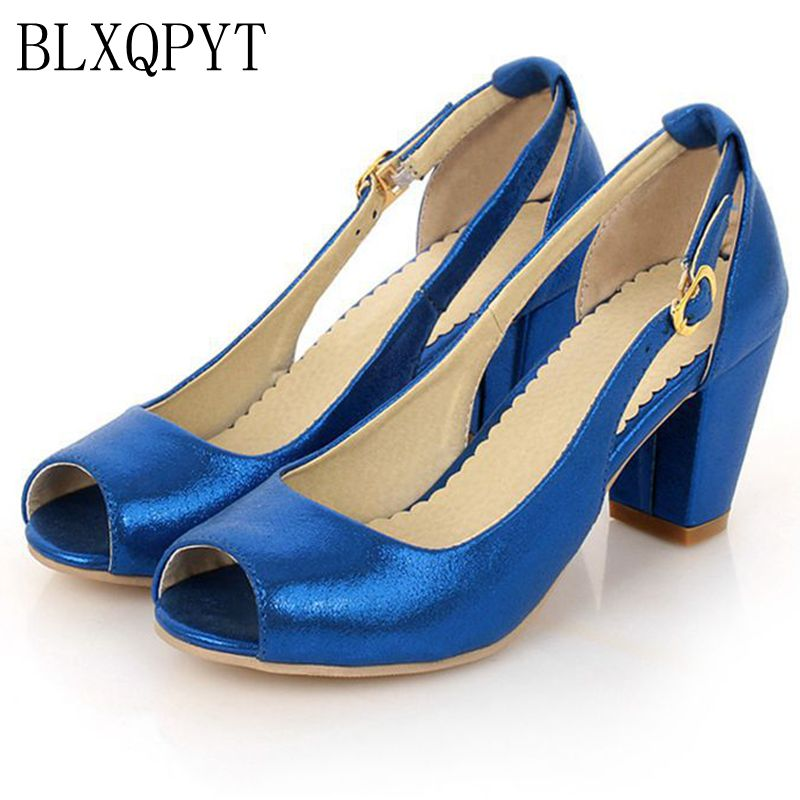 BLXQPYT Plus Sweet Sandals shoes Woman Big Size 31-43 peep toe Sandals High hells Sapato Feminino Summer Chaussure Femme 2-8 недорго, оригинальная цена