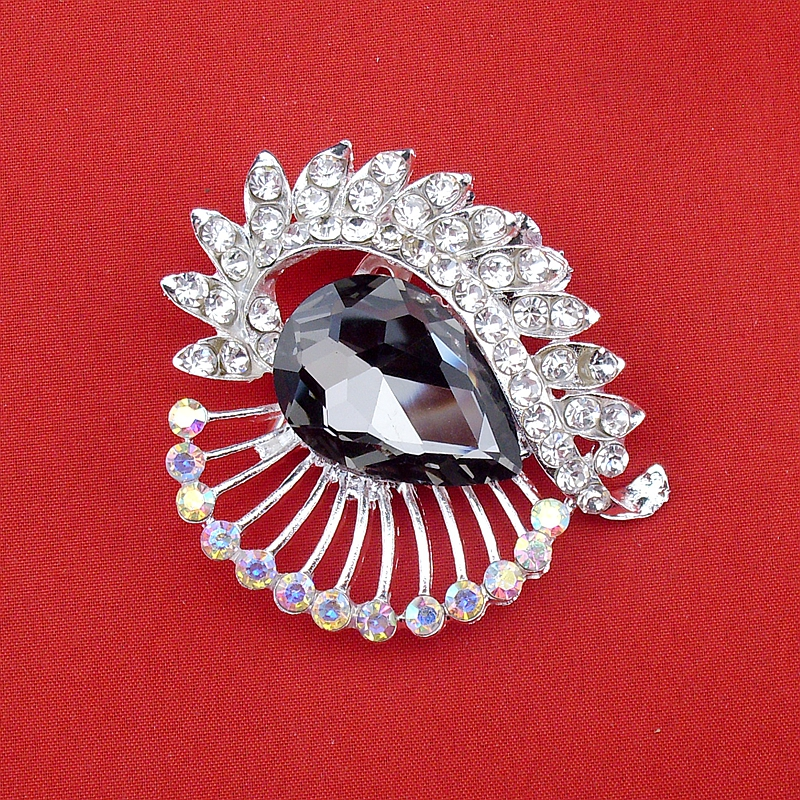 New Large Crystal Silver Stone Graceful High Quality Sparkly Brooch Multi Colors Popular Jewelry Shining Pin, Item NO.: BH7353