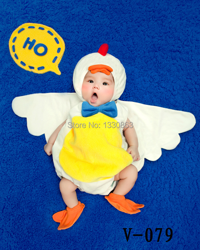 2015 Soft New newborn Baby Costume Photography Props Duck Infant  Girl and Boy Knit Crochet Free shipping newborn baby photography props infant knit crochet costume peacock photo prop costume headband hat clothes set baby shower gift
