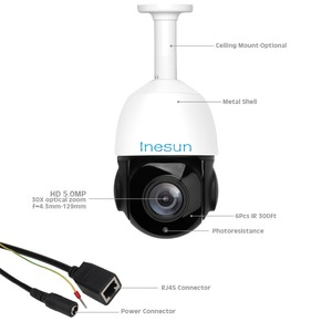 Image 5 - Inesun H.265 PoE PTZ IP Camera Outdoor 2MP 5MP Super HD 30X Optical Zoom Speed Dome Cam Support Motion Detection IR Night Vision