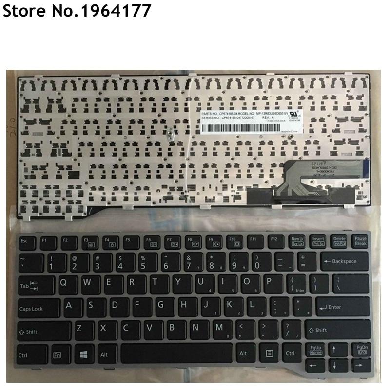 new English Laptop keyboard FOR Fujitsu Lifebook E733 E734 E743 E744 E544 E736 sliver frame|Replacement Keyboards| |  - title=