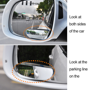 Image 2 - 2Pcs Car Blind Spot Mirror 360 Degree Adjustable Wide Angle Convex Rear View Mirror Car Parking Rearview Mirror round long