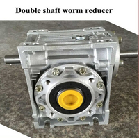 웜 감속기 NRV040-VS 더블 입력축 11mm 비율 5:1 - 100 :1 90도 웜 기어 감속기
