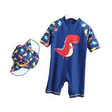 Boy Cartoon Dinosaur Baby Swimwear Kids Boys One Piece Toddler 2019 Summer Beach Swim Wear Swimming 1-6T
