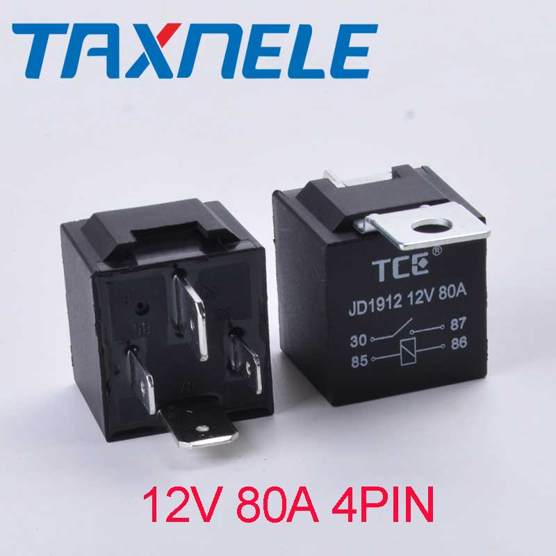 1PCS JD1912 Car Relay 12V 24V 80A 4Pin DC AMP SPDT Relay Car Starter Auto Relay Universal For Starter Motor Automotive Relay