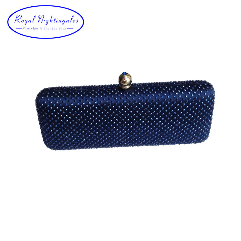 Factory Cheap New Long Shaped Box Clutch Rhinestone Evening Clutch Bags and Crystal Evening Bags for Party Wedding Prom Evening