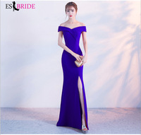 2019 New Arrival Ever Pretty Lace Boat Neck Evening Dresses Long Evening Dress Sleeveless Sexy Party Gowns for Women ES1149
