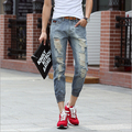 Hot selling fashion hole casual summer high quality men jeans ankle length pants Free Shipping MF745892