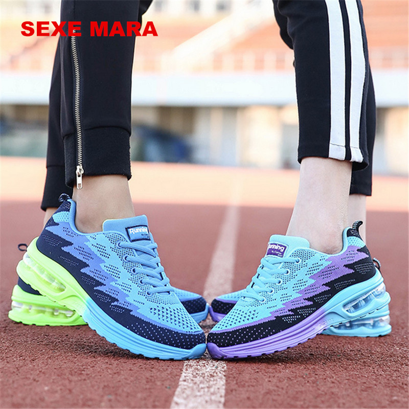 2017 Sneakers shoes women Sports Shoes air cushion Size 35-44 Summer Outdoor Running Shoes for women Flywire Trainers Jogging Q0 summer breathable air cushion fly line sports women running shoes shock absorption increase tourism shoes spring female sneakers