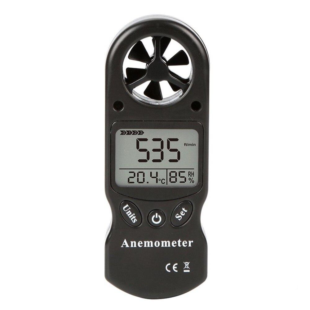 Mini Multipurpose Digital Anemometer with LCD Display Used as Wind Speed Meter