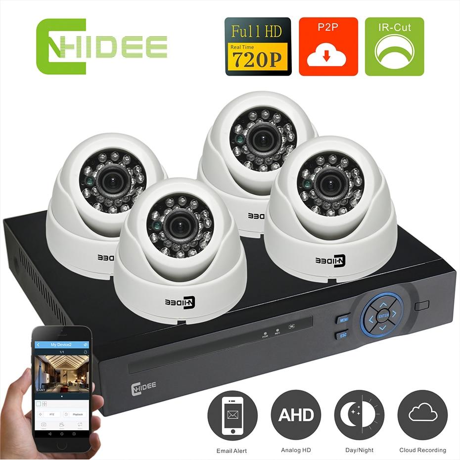 home security camera system kit video camera de surveillance system video 4ch hd outdoor night. Black Bedroom Furniture Sets. Home Design Ideas