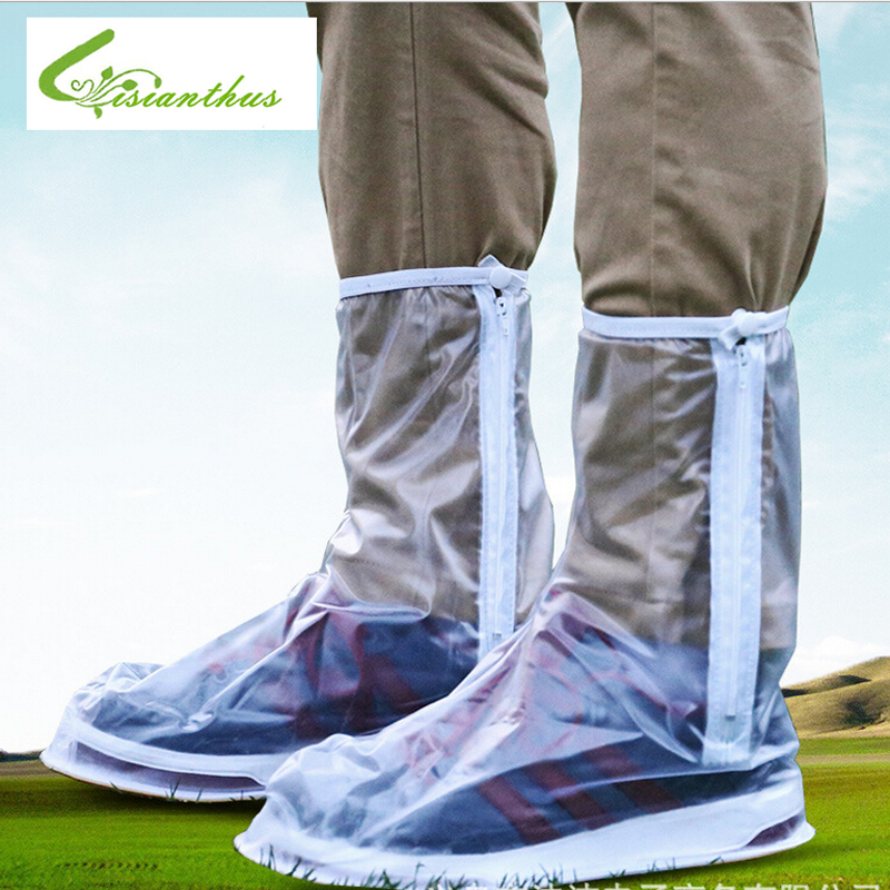 In Stock New High Quality Rainproof Shoes Cover Motorcycle Waterproof Rain Boot Covers Rubber Fashion Rain Shoes Cover Men - XXL