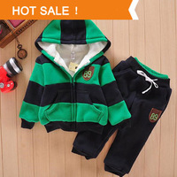 Boys Girls Children Hoodies Winter Wool Sherpa Baby Sports Suit New 2014 Jacket Sweater Coat Pants