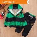 Meninos Meninas Crianças Hoodies Lã Inverno Sherpa Terno Dos Esportes Do Bebê novo 2014 Jacket Sweater Brasão & Calças Engrossar Roupa Dos Miúdos conjuntos