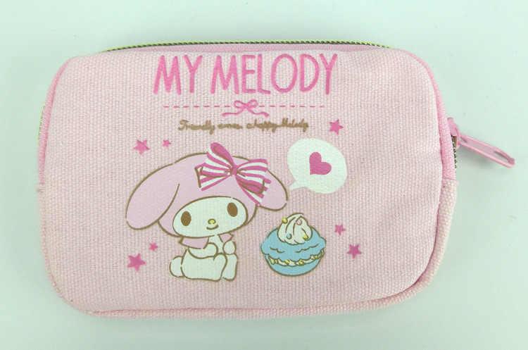 Bonito Dos Desenhos Animados My Melody Kuromi Mini Pequena Bolsa Da Moeda Da Lona Carteira Pouco Twin Stars Caso Titular do Cartão Saco de Armazenamento De Chave para As Mulheres
