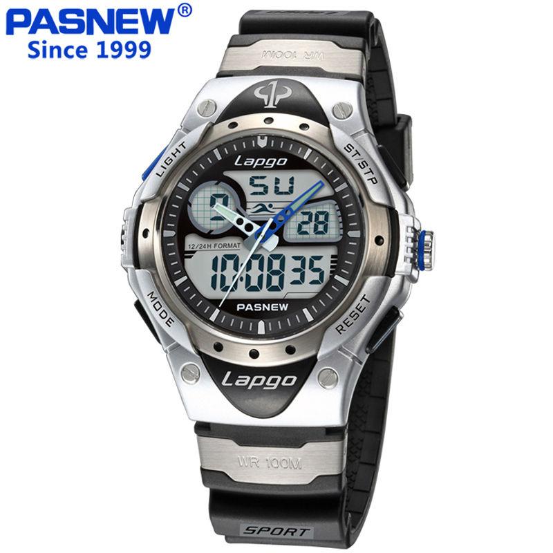 Prix pour Pasnew marque de luxe hommes sport montres de plongée 100 m numérique led militaire montre hommes mode casual électronique montre-bracelet chaude horloge