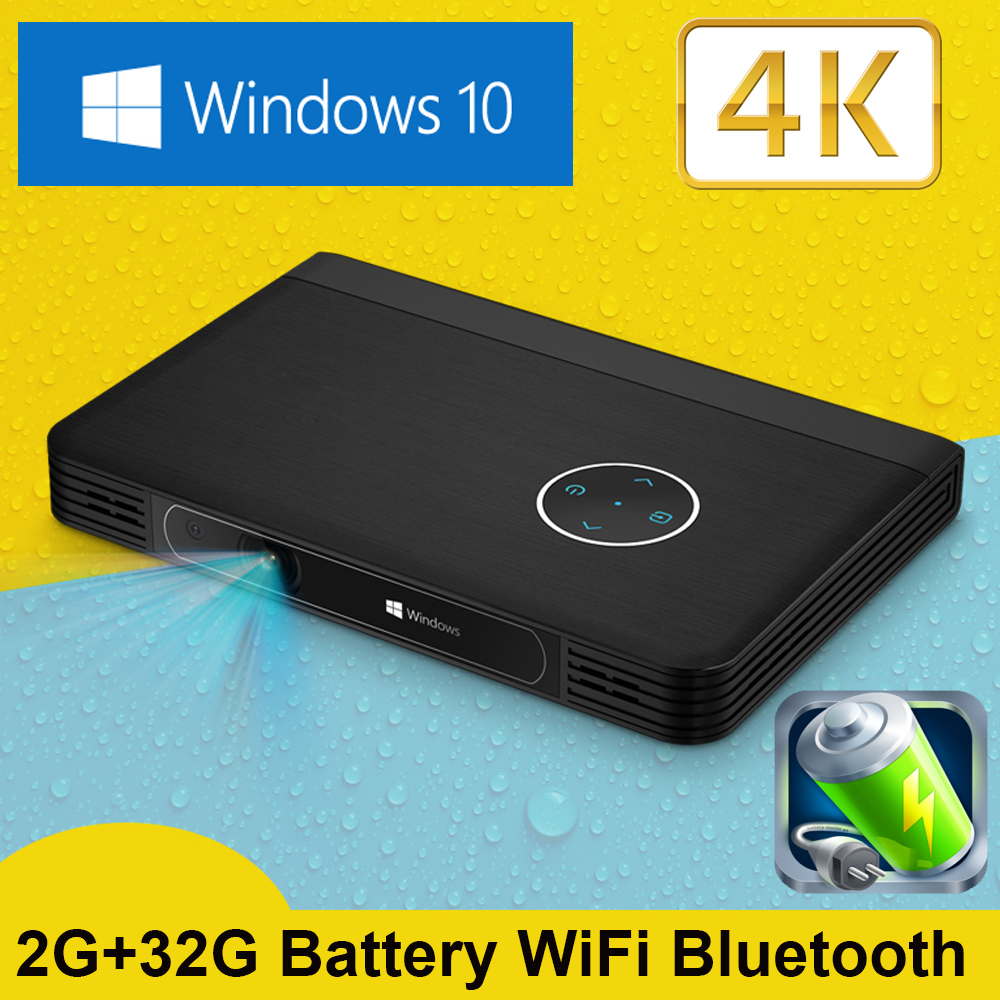 Full Hd Smart Dlp300b Mini Projector Lcd 3d Home Theater: Mini Projector Wifi Smart DLP Projector Windows 10 System