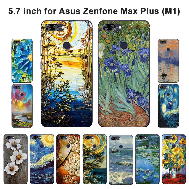 For Asus Zenfone Max Plus M1 Case Silicon Oil Painted Soft Back Phone Cover For Asus Zenfone Max Plus M1 ZB570TL X018D