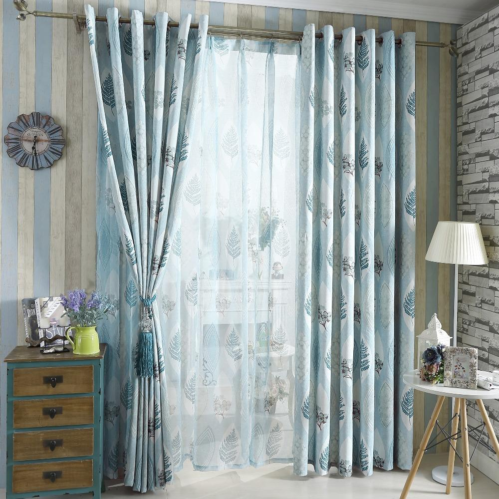 Rustic curtains and drapes - American Country Style Rustic Design Home Semi Blackout Drape Curtain Customized Curtains China