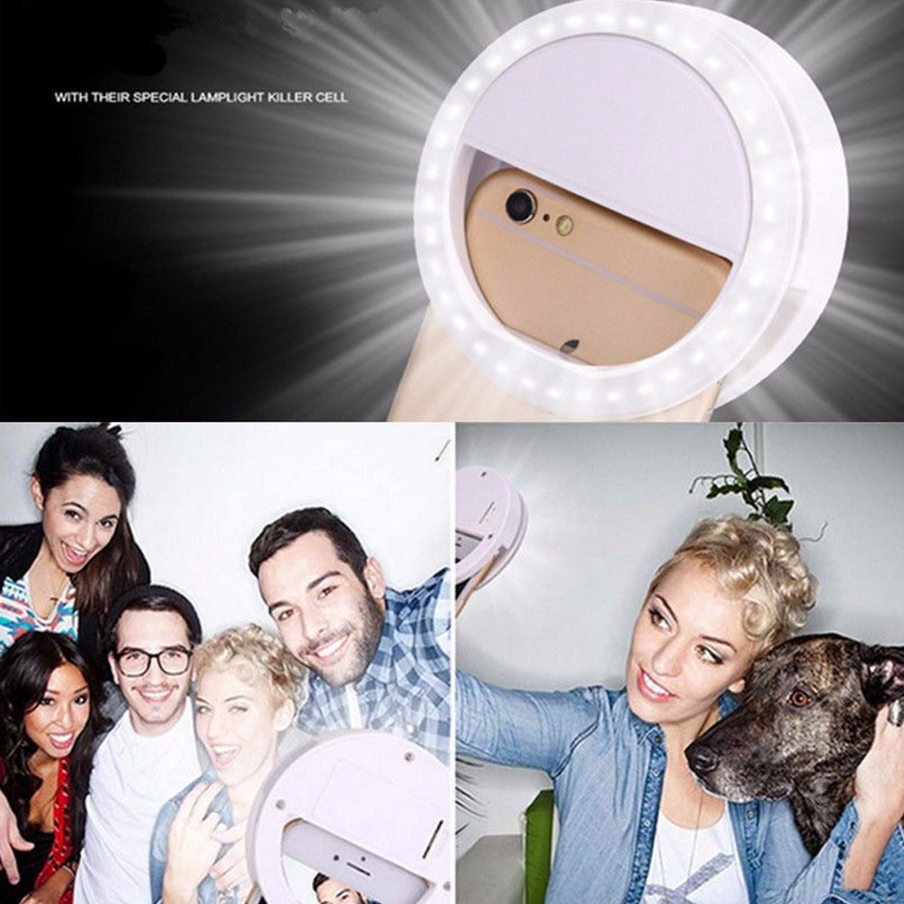 Practical and Portable Selfie Flash LED Phone Camera Ring Light For Apple Iphone Samsung HTC 6