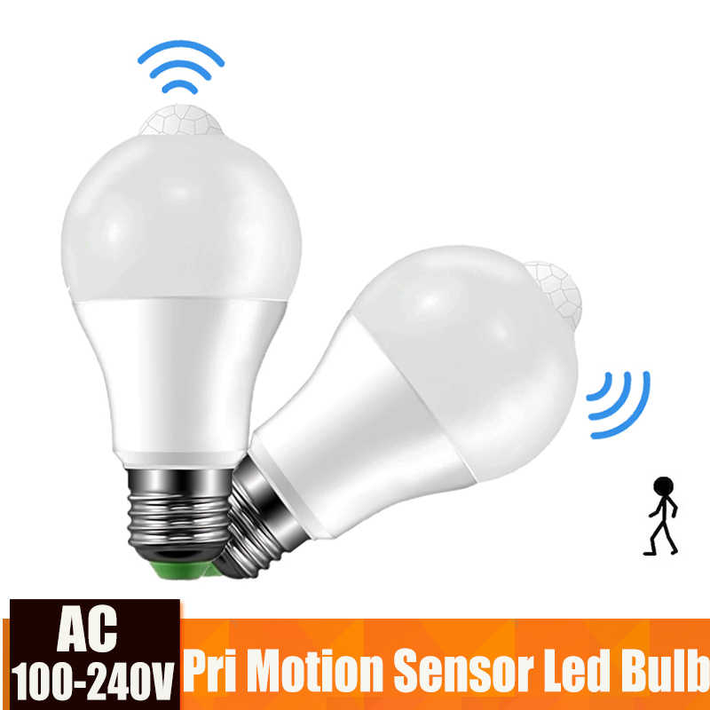 Led Bulb Light With Motion Sensor E27 5W 9W Smart Light Bulb 110V 220V PIR LED Bombillas For Home Corridor Aisle Stairs Balcony