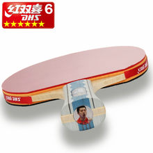 DHS Double Happiness 6002 6006 table tennis racket double reverse indoor sport Ping Pong Racket fast loop with racket cover up(China)