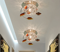Led Crystal Lamp 3/5W Celling Lamps AC111 240V Single Light Entrance Hallway Living Room Ceiling Lamp