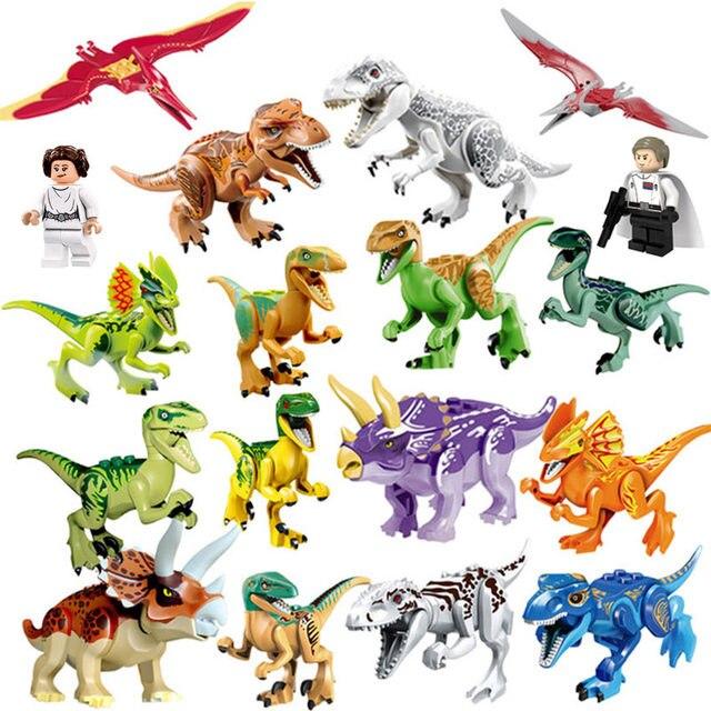 Legoings Jurassic Dinosaurs World Park Dinosaur Raptor protection zone Building Blocks Set Kids Toys juguetes Compatible Legoed