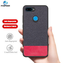 PHOPEER Case for XiaoMi Mi 8 Lite case Soft silicone fabric cloth protective cover XioMi Mi8