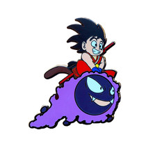 Goku Gastly badge dragonball anime pin Haunter Pokemon broche vintage 80s game accessoire(China)