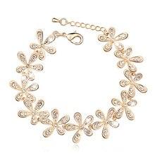 Snowflake Crystal Charm Bracelet