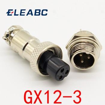1 шт. GX12 3 Pin Мужской и женский 12 мм провод панель разъем авиации L89 GX12 круговой разъем