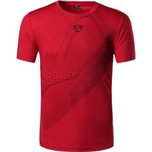 New Arrival 2016 men Designer T Shirt Casual Quick Dry Slim Fit running Sport shirts Tops