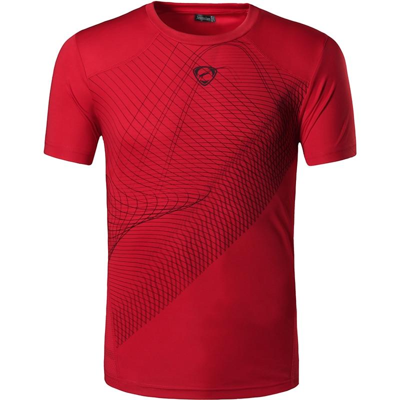 Nyankomst 2019 mænd T-shirt Casual Hurtigtørret Slim Fit Shirts Tops & Tees Størrelse S M L XL Samling LSL (VELG VENST USA STØRRELSE)