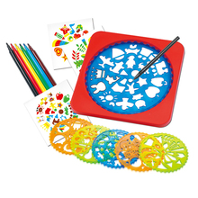 DIY Drawing Board Magic Pen Ruler Sketchers Toy Drawing Tools Spirograph Stencils For Painting Educational Toys for Kids недорого