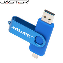JASTER Nuiflash OTG 2.0 Ổ USB Flash 128 GB Ổ Bút 64 GB 32 GB 16 GB Pendrive Lưu Trữ Bên Ngoài đôi Sử Dụng Dính chất lượng Cao