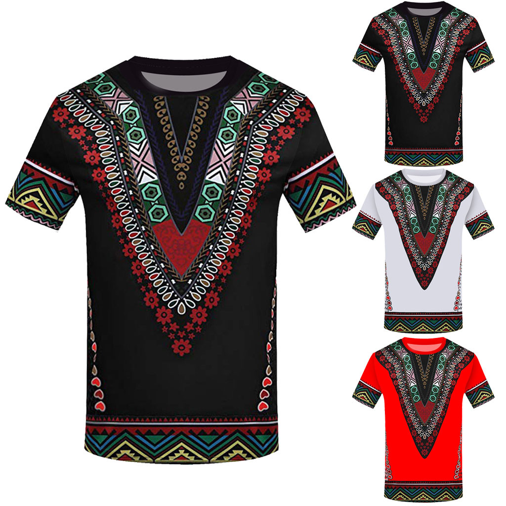 African Top Men Autumn Winter Luxury African Print Long Sleeve Dashiki Shirt Top Blouse(China)