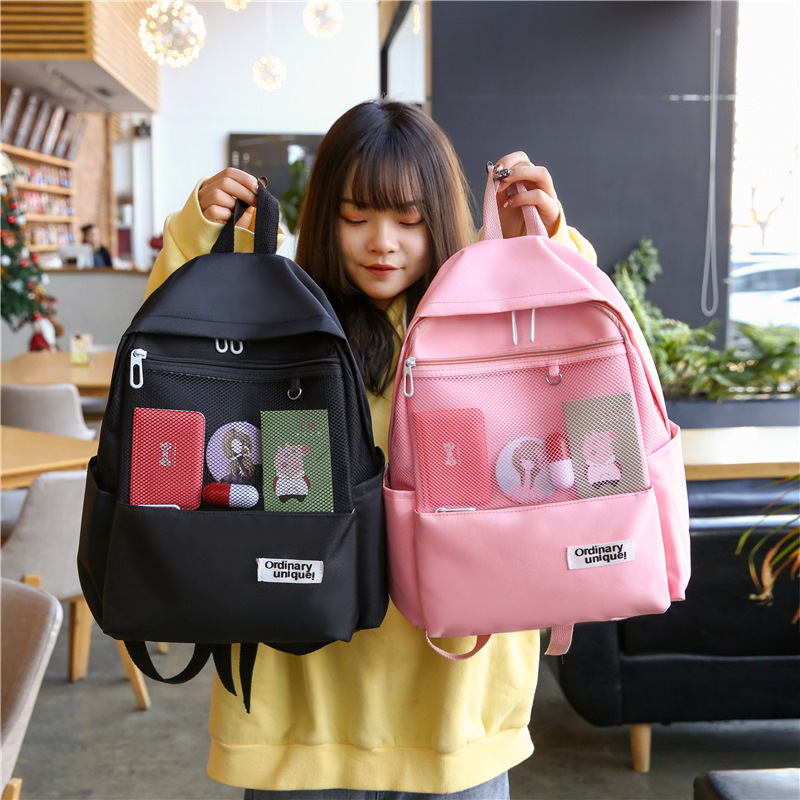 Shoulders-Package School-Bags Teenage-Girls Middle Student Original Will-Capacity Woman