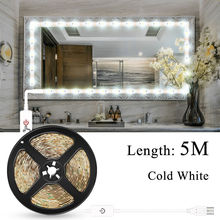 Led Vanity Table Mirror Light USB 5V LED Makeup Kit Dimmable Bathroom Hollywood Wall Lamp Dressing Lighting