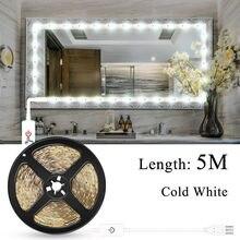 купить Makeup Vanity Mirror Light Strip Led USB Cable 5V Dimmable Dressing Table Lamp Tape Bathroom Make Up Cosmetic Mirror Lights Kit дешево