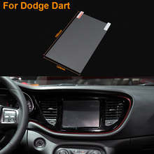 Car Styling 8 Inch GPS Navigation Screen Steel Protective Film For Dodge Dart Control of LCD Screen Car Sticker