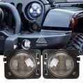 2 UNIDS Negro LED Frente Fender Flares Turn Signal Light LED de Marcador Lateral de La Lámpara Para Jeep Wrangler JK 2007 ~ 2015 Ámbar