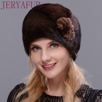 258a5d9c4 HOT SALE] Women's Whole Mink Fur Winter Christmas Hat Festive Gifts ...