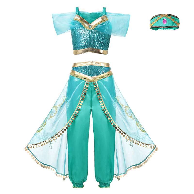 HTB1C1zyJjDpK1RjSZFrq6y78VXav - Fancy Baby Girl Princess Clothes Kid Jasmine Rapunzel Aurora Belle Ariel Cosplay Costume Child Elsa Anna Elena Sofia Party Dress