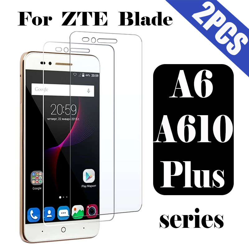 Protective glass on the for <font><b>ZTE</b></font> <font><b>Blade</b></font> A6 A610 plus screen protector film 610a <font><b>a610plus</b></font> tremp a 610plus 6a tempered glas 2pcs image