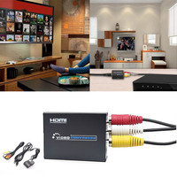 HDMI to RCA AV CVBS Component Converter Scaler 1080P Adapter Cable Box for Monito L/R Video HDMI2AV HD high quality Z612