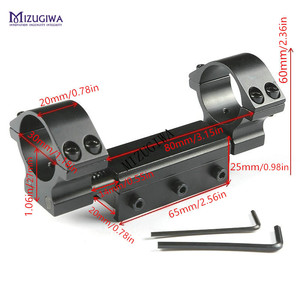 Image 2 - Scope Mount 30mm 1 inch 25.4mm Rings w/Stop Pin Zero Recoil Base 11mm to 20mm Adapter Picatinny Rail Weaver Compensation Airgun