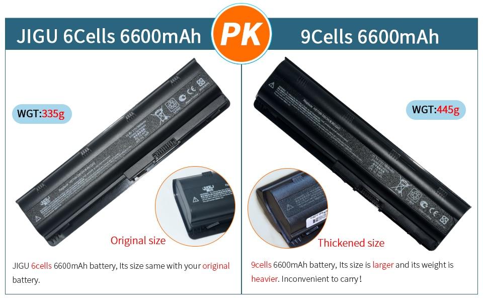 JIGU 6 ячеек Батарея для hp павильон DM4 DM4T DV3 Dv7-2100 G4 G6 G7 G62 G62T G72 MU06 HSTNN-UBOW Presario CQ42 CQ56 CQ62