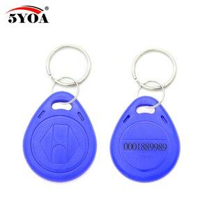 Image 2 - 100 قطع الأزرق RFID 125 كيلو هرتز EM4100 مفتاح علامة Keyfobs حلقة رقاقة Keytab TK4100 الكلمات 125 كيلو هرتز قراءة فقط